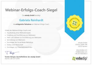 RGH-Consulting | Gabriela Reinhardt | Zertifikate